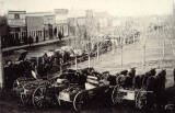 Rupert Square 1910 with Horse and wagons hitched up